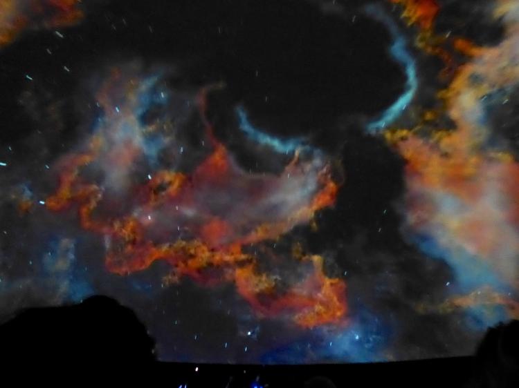 Galaxie-Projektionen im Zeiss Großplanetarium